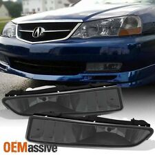 Smoked 1999-2003 Acura TL Replacement Bumper Fog Lights Lamp W/Bulbs Left+Right
