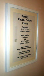 image is loading white photo picture frame 19mm mount 10x10 10x11