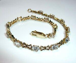 Armband 375 Gold ca. 3 ct. echte Blautopase 20 cm Länge 7 Gramm NEU