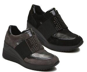 IGI-amp-CO-21507-scarpe-donna-sneakers-zeppa-pelle-camoscio-slip-on-elastico-stras
