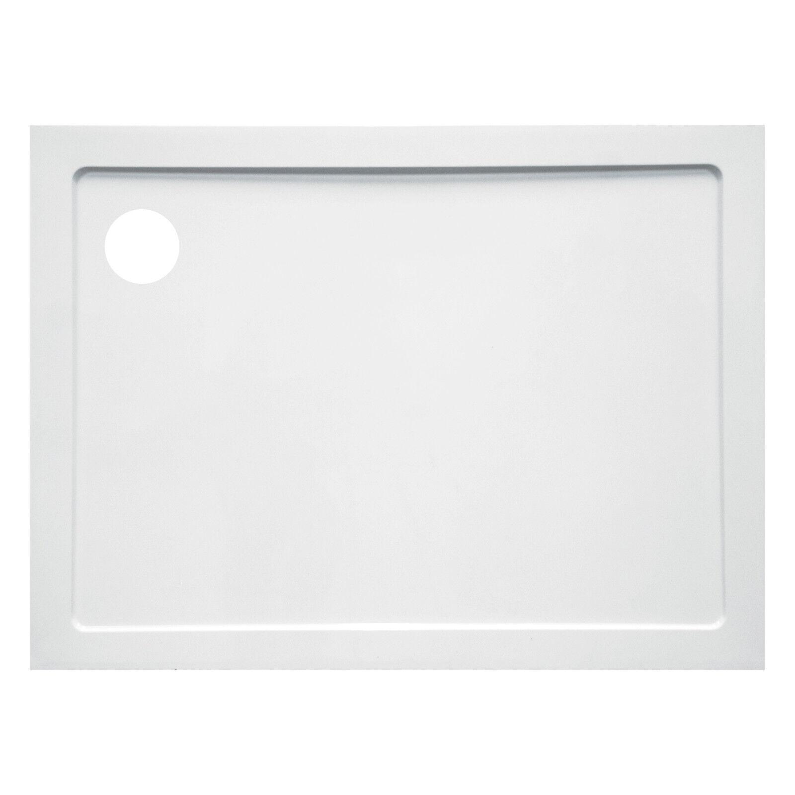 Piatto doccia 70 x 100 cm h 3,5 cm ultra slim in acrilico bianco design moderno