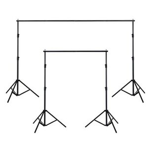 10ft Adjustable Background Support Stand Photo Studio Backdrop Crossbar Set 657258048126