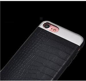 Extra-Ajustado-Piel-De-Calidad-METAL-ESTILO-MODERNO-Funda-para-Iphone-5-6-7-Plus