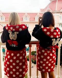 Primark Ladies DISNEY MINNIE MOUSE Dressing Gown Hooded Bathrobe ...