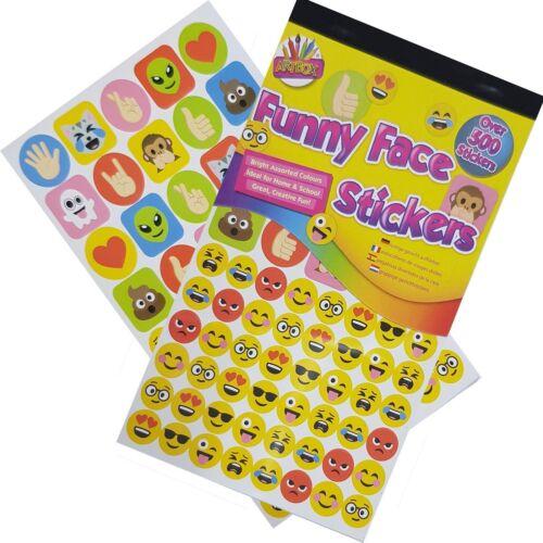 Artbox Over 500 Childrens Behavior Reward Chart Stickers Bright Rewarding Funny