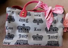 JUICY COUTURE WOMENS HOT PINK PURSE BAG TOTE HANDBAG LARGE /HAVE A JUICY DAY !