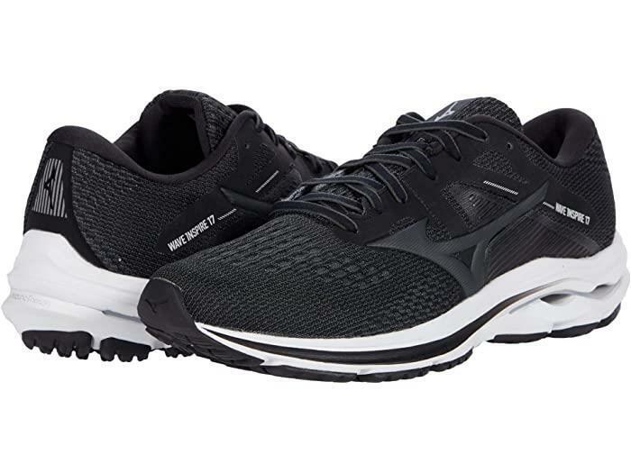New Men's Mizuno Wave Inspire 17 Running Shoes Size 9 Black 411306