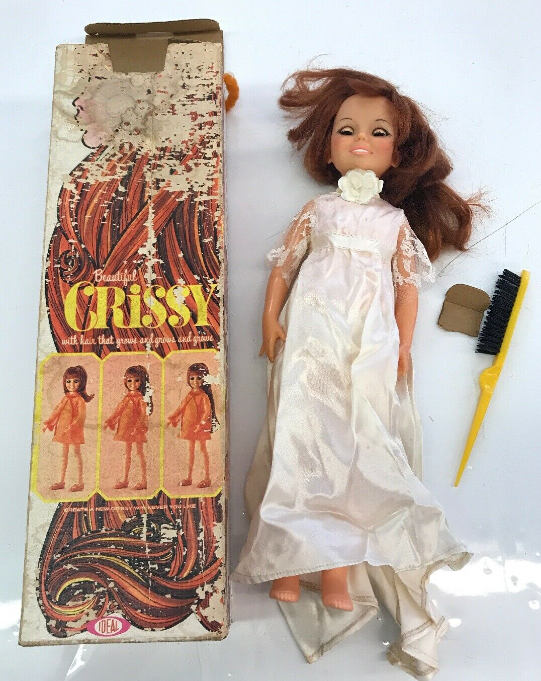 1969 Beautiful rot Hair 18  Crissy Doll by Ideal with Original Box Rare