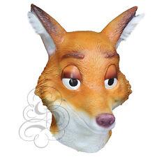 Latex Mr. Wilde Fox Animal Head Fancy Dress Carnival Party Theater Cartoon Mask