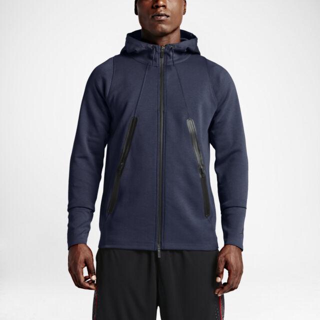 9a44c8293210 Nike Mens Air Jordan Lite Tech Fleece Full Zip Hoodie Navy Size 3xl ...