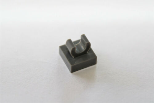 LEGO® Dark Gray Tile 1 x 1 with Clip Design ID 15712