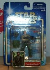 2002 Hasbro Star Wars AOTC #33 Endor Rebel Soldier NO BEARD figure RARE