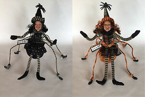 "DF0111 Large 14"" Posable Spider Witch Doll Figure Halloween Table Decoration Fun"