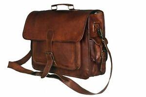 Leather-Vintage-Messenger-Bag-Shoulder-Men-Satchel-S-Laptop-School-Briefcase-Bag