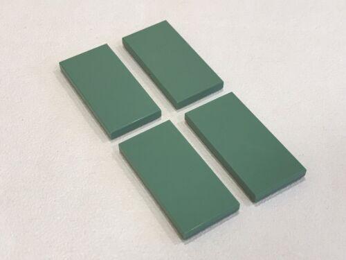 P//N 87079 NEW 4x LEGO Sand Green Tile 2 x 4