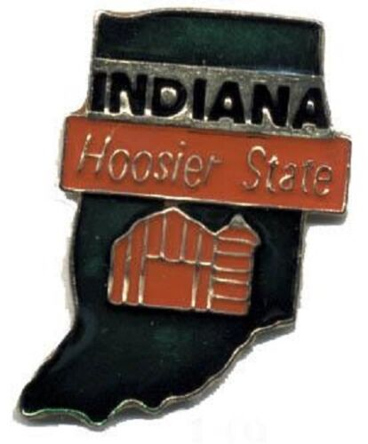 Hat Lapel Push Pin Tie Tac State of Indiana NEW