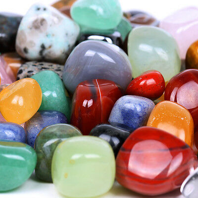 1/2lb Bulk Assorted Tumbled Stone Crystal Healing Reiki +Free Pouch TS0000