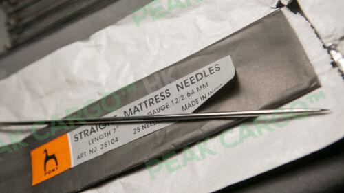environ 17.78 cm Qté 2 LOURD STRAIGHT Matelas Aiguilles 7 in longue-main à coudre PONY l/'Inde fait