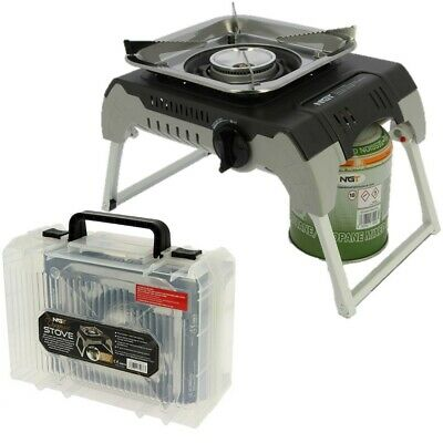 NGT CARP FISHING GAS STOVE AUTO LIGHTING FOLDING WITH CASE COOKER BURNER GIFT
