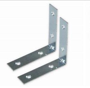 10x 65mm Corner Braces Brackets Right Angle Zinc Plate Brace Bracket with Screws