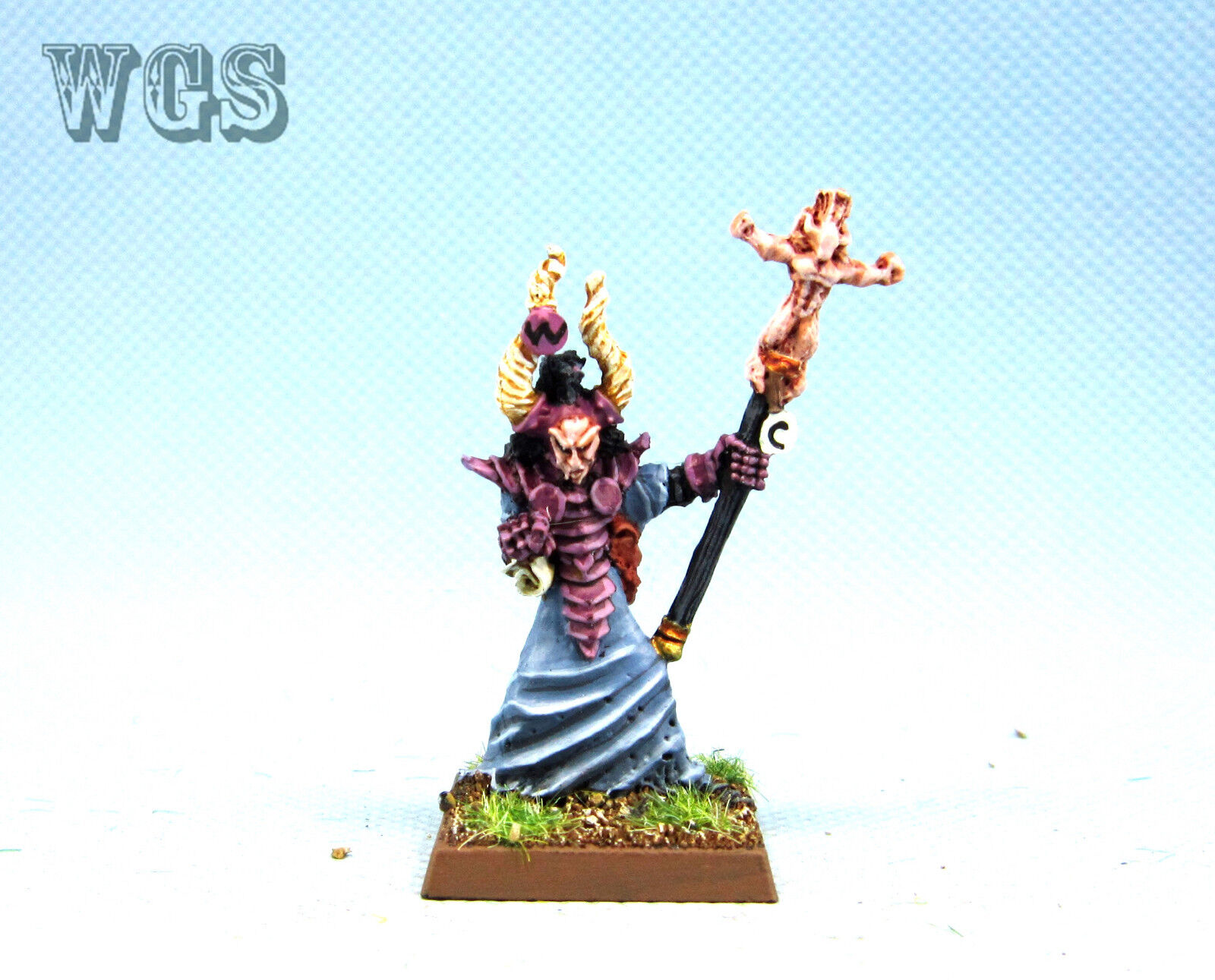 25mm Warhammer fantasyc WGS Painted  Warriors of Chaos Chaos Sorceror WC035  miglior prezzo