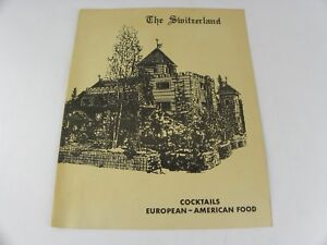 Vintage Original The Switzerland Restaurant Menu Fairbanks Alaska