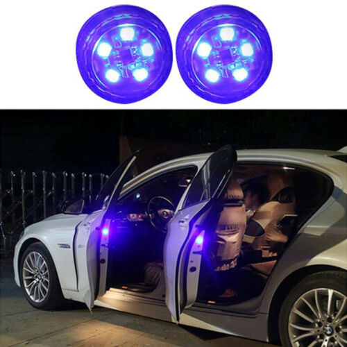 1Pair Anti-collid Car Warning Light Door Safety Open LED Flash Lamp Blue