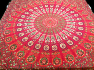 Indian-Mandala-Bed-Sheet-100-Cotton-Bedding-Tapestry-Hippie-Bohemian-Queen-Size