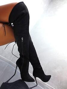 2017 hohe overknee stiefel sexy high heels damen luxus. Black Bedroom Furniture Sets. Home Design Ideas