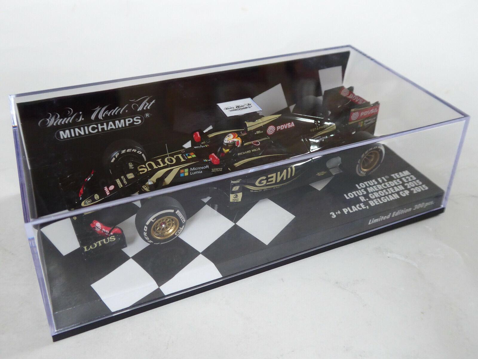 MINICHAMPS 1 43 LOTUS  e23 Mercedes Hybride f1 team 2015 Kristensen 3rd Belgique neuf dans sa boîte  vente en ligne