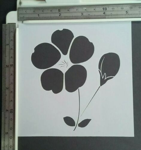 Flower Poppy Stencil Scrapbooking Card Making Airbrush Painting Home Decor #4
