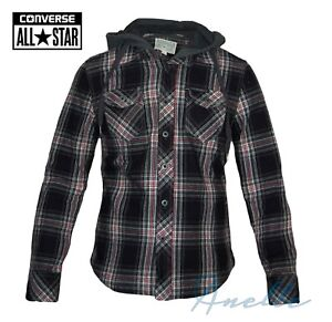 c0320db0a40e CONVERSE ALL STAR Men s Hooded Jacket Two Layers Branded Buttons ...