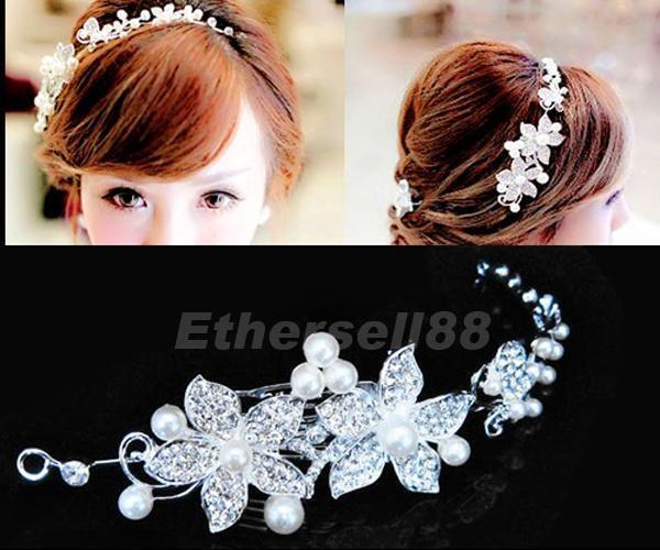 Shiny Bridal Tiara Love Vine & Flower Diamante Butterfly Wedding Hair Headband