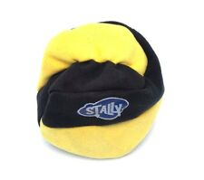 Stally footbag hacky sack dirtbag sand filled black yellow 4 panel kick bag New