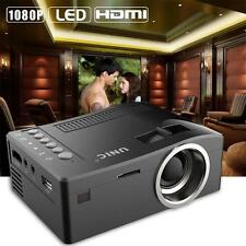 HD Multimedia Projector Home Cinema Theater Video HDMI USB AV 1080P Black US LN