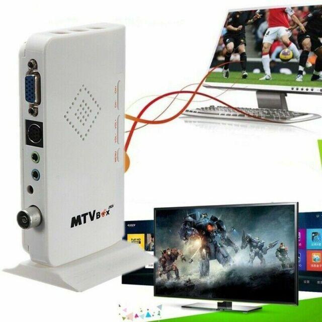 VGA LCD External TV BOX Digital Program Receiver Tuner HDTV HD 1080P+Speaker PC
