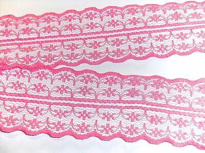 Spitze Spitzenbordüre Spitzenborte Wäschespitze 1m rot 55  mm breit elastisch