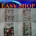 4 Sheets Sticker Decal Factory Effex Motorcycle Car Bike Quad Ute Dirt Caravan
