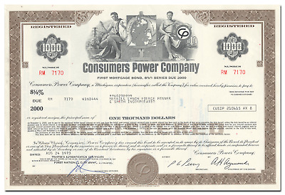Michigan Wisconsin Pipe Line Company Bond Certificate