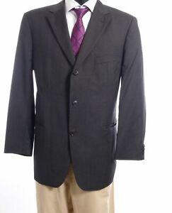HUGO-BOSS-Sakko-Jacket-Rossellini-Gr-26-grau-uni-Einreiher-3-Knopf-S509