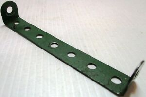 Original Verwendet Paar Verpackung Der Nominierten Marke 48b Doppel Angle Streifen Mittelgrün 1x7x1 Meccano