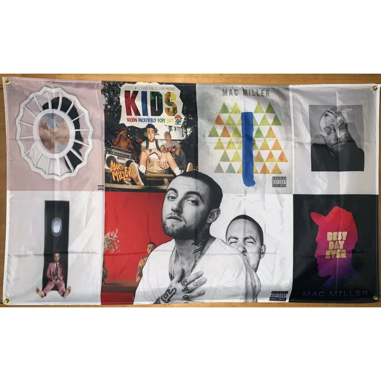 Mac Miller Album Cover Collage Art Music Poster Hanging Tape