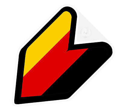 ## I LOVE JDM WAKABA BADGE Car Decal Flag not vinyl sticker ##