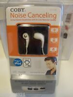 Coby Noise Canceling Active Stereo Earphones With In-line Remote Control