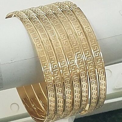 f29d12808cfd7 14K Yellow Gold 7 Days Bangles Semanario 2 1/2 inch, M ,5 mm, 7 to ...