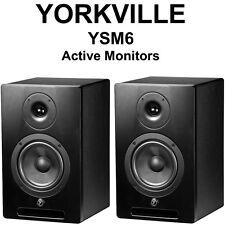YORKVILLE YSM6 ACTIVE UNIVERSAL POWER MONITORS 136w STUDIO PAIR $20 INSTANT OFF
