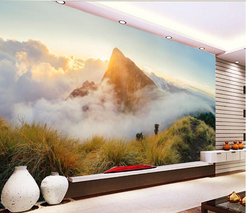 3D Wolke Berg Sonnenschein 833 Tapete Wandgemälde Tapeten Bild Familie DE Lemon | Ermäßigung  | Neuheit  | König der Quantität