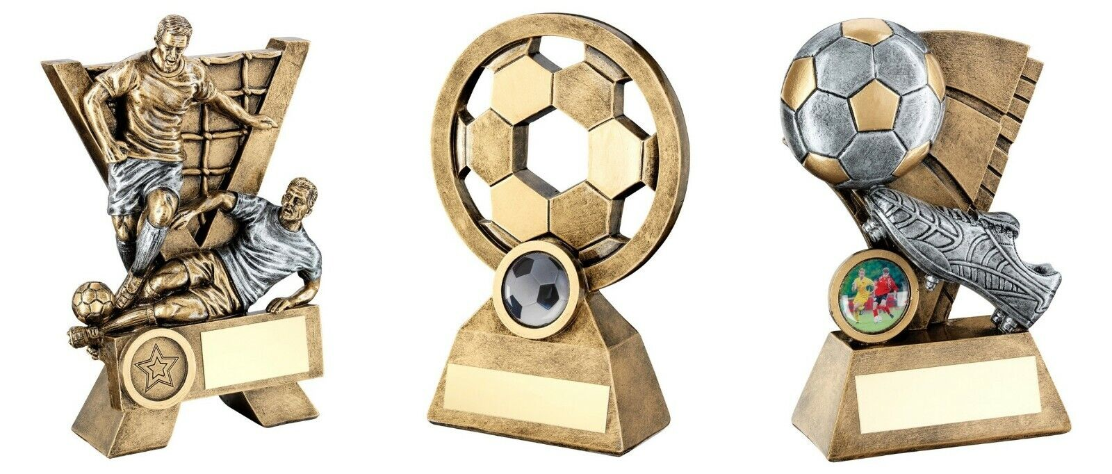3 x 7 inch Football Trophy Awards engraved post free (RRP .48)