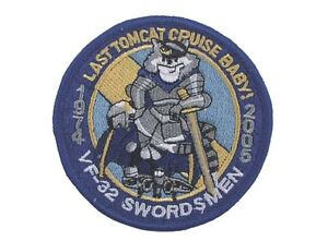 US Army Tomcatter Swordsmen VF-32 Felix The Cat Naval Fighting 32 Sew-On Patch