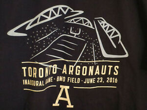 Toronto-Argonauts-First-Game-at-BMO-Field-Size-Large-CFL-Football-T-shirt